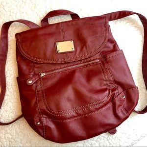 NINE WEST Brick Red Chic Fashion Backpack